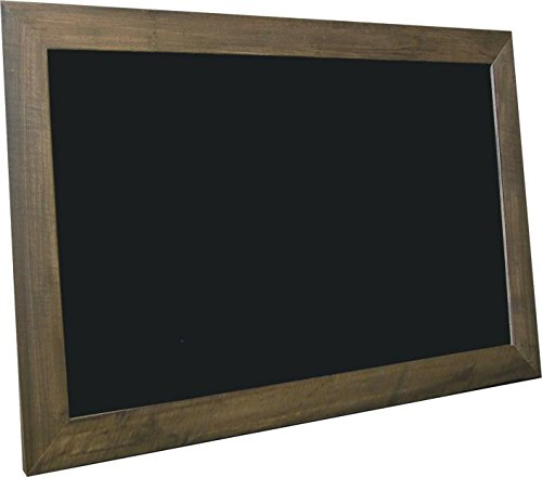 billyBoards 36X60 chalkboard. Brown barnwood frame finish. Restaurant menu style. No chalk tray. Wood composite writing panel- black. 2.5'' wood frame. by billyBoards