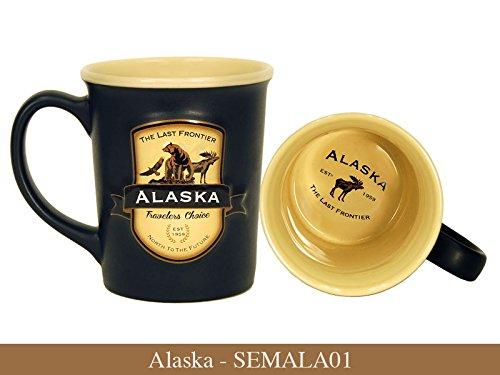 Alaska Mug - Americaware Alaska Emblem 18oz Ceramic Coffee Tea Mug Cup 5 Inches Long By 4.75 Inches Tall By 4 Inches Wide