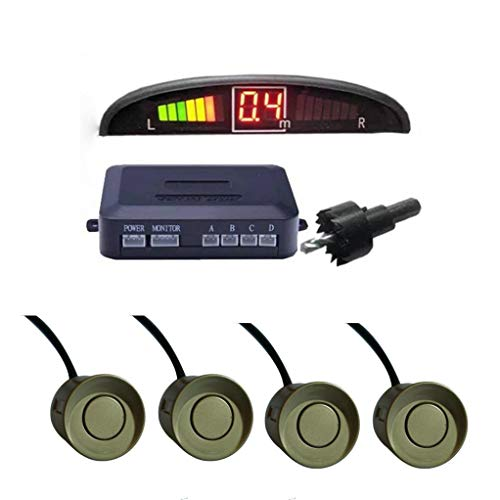 Sonmer Car Reversing Parking Radar Sensor, With 4 Sensors Audio Buzzer Sound Alarm (Gold) by Sonmer (Image #1)