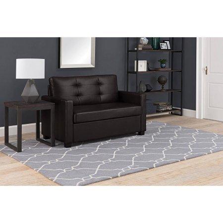Mainstays Sleeper Sofa with CertiPUR-US certified Memory Foam Mattress