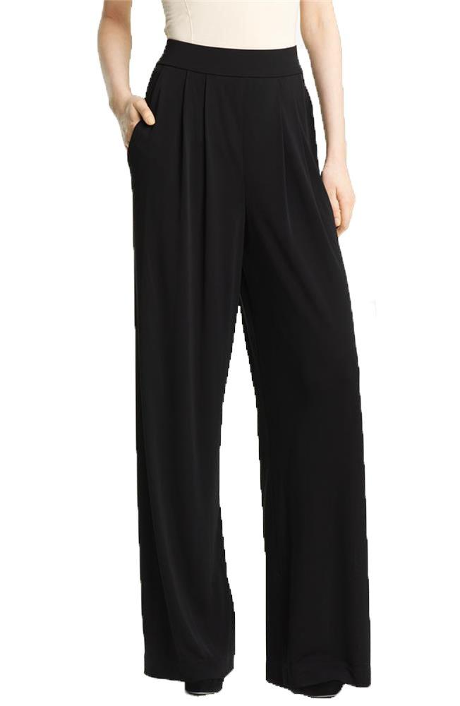 Angel&Lily Pleated wide-leg Jersey womens Pants LSM18 PLUS 10X