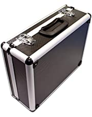 PeakTech 7300 Universele koffer voor meetapparaten, robuuste draagkoffer, gereedschapsopslag, kubusschuim platen, schuimrubberen bekleding, afsluitbaar, stofbescherming, M - 320 x 250 x 150 mm