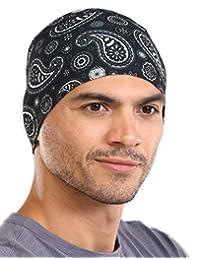 7417592db0c82 Tough Headwear Sweat-Wicking Helmet Liner Cooling Skull Cap for Men   Women  - Absorbent   Evaporative Under Hard Hat Cushion - UPF 45…