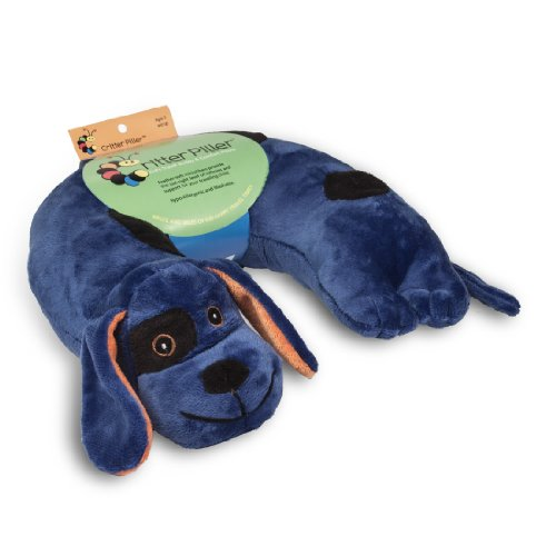Critter Piller Kid's Neck Pillow, Blue Dog