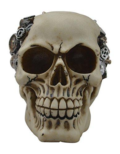KW Collectible Gift Co.Steampunk GearHead Gear Mechanic Skull Skeleton Decorative Figurine Halloween Statue (Garage Punk Halloween)