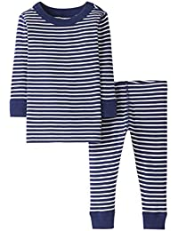 Baby/Toddler Boys' and Girls' 2-Piece Organic Cotton Long Sleeve Stripe Pajama Set