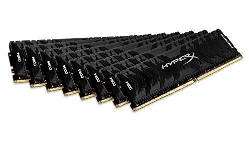 HyperX Kingston 128GB 3000MHz DDR4 CL15 DIMM (Kit of 8) XMP Predator (HX430C15PB3K8/128) - 128GB Kit (8 x 16GB)