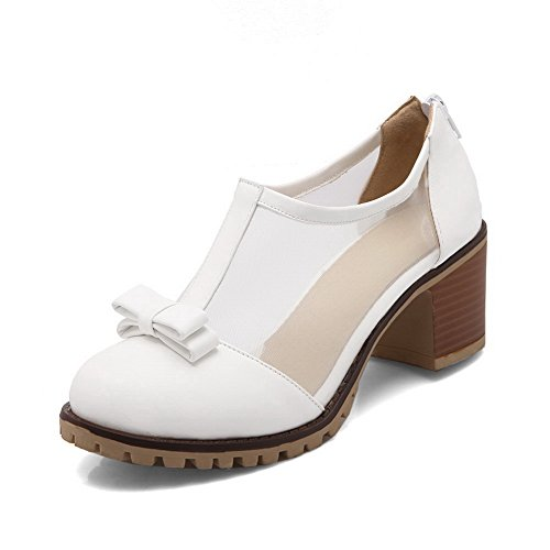 Pumps Poliuretano Bianco Adee In Womens Zip Bows tqAa1