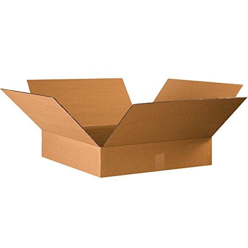 """BOX USA B22224 Corrugated Boxes, 22"""" x 22"""" x 4"""", Kraft (Pack of 10) from BOX USA"""