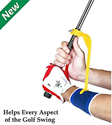 Golf Training Aid - Golf Swing Trainer and Warm Up Tool Accessory - Swing Guide V2 - Swing Correcting Tool to Improve All Positions of The Swing Steps and Adjust Wrists in Simple and Effective Way