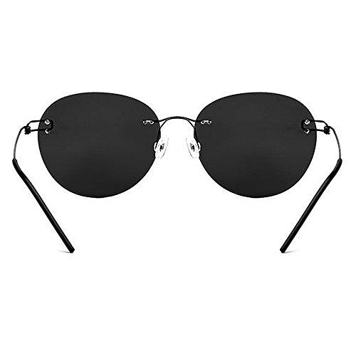 de funcionamiento sol de de TAC el de béisbol la protección hombres los para ULTRAVIOLETA conducir gafas Gafas TR90 que redonda sol polarizadas del forma la de la de de Negro un personalidad Retro completa wpPEqZ
