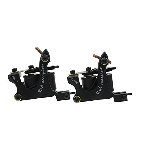 Redscorpion Coil Tattoo Machine Gun Set for Liner and Shader Alloy Frame (pack of 2) (Tattoo Machine Gun)