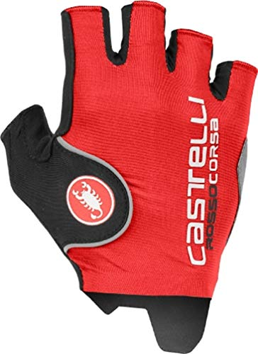 Castelli Rosso Corsa Pro Cycling Gloves (Red, Medium) ()
