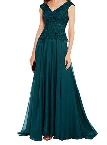 A Charmant Promkleider Damen Abendkleider Linie Brautmutterkleider Formalkleider Neu 2018 Spitze Dunkel Rock Spitze Tuerkis wrwzY1fFxq