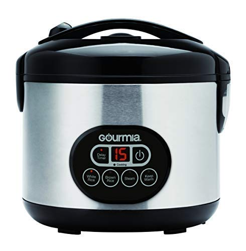 Gourmia GRC770 12 Cup  Rice Cooker and Steamer For Grains an