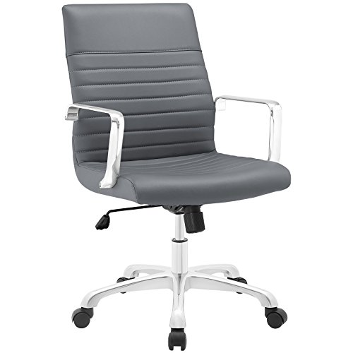 Modway finesse mid back office chair eei-1534-gry