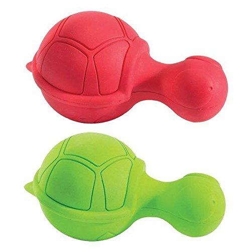 Ruffians Turtle Shape Dog Toy Tough Durable Rubber Bouncy Squeak Toys 4 1/2