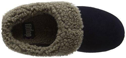 Fitflop Loaff Snug, Zapatillas de Estar por Casa para Mujer Azul - Blue (Supernavy)