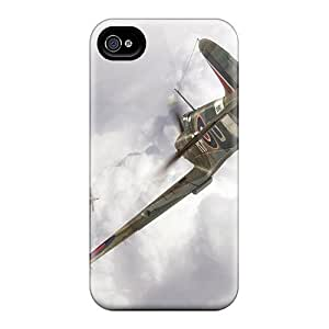 Defender Case With Nice Appearance (spitfire Mk Iia Vs Bf 109) For Iphone 4/4s