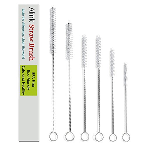 Alink Simple Drink Straw Cleaning Brush Kit - 5 Size - 6 Pieces (12