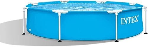 Intex 28205EH 8 X 20 Rust Resistant Durable Steel Metal Frame Outdoor Backyard Circular Swimming Pool