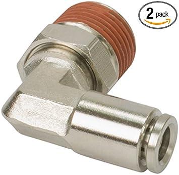 1//4 Swivel T-Fitting DOT Approved M VIAIR 11418 NPT 2 Pack