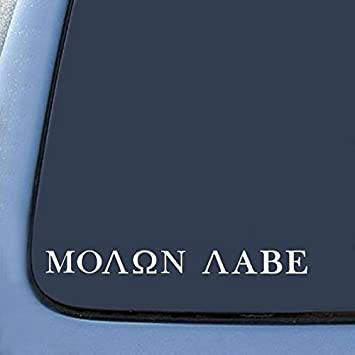Molon Labe Car Truck Suv Gun vinyl sticker decal