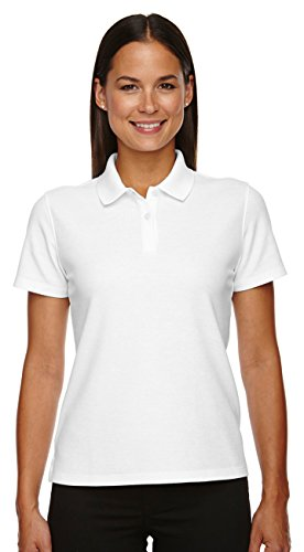 (Devon & Jones Ladies Drytec Performance Polo Shirt, White, XX-Large)