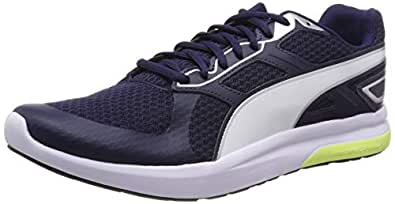 Puma Escaper Tech Zapatillas de deporte Unisex adulto, Azul (Peacoat-Silver-Puma White-Fizzy Yellow), 36 EU (3.5 UK)