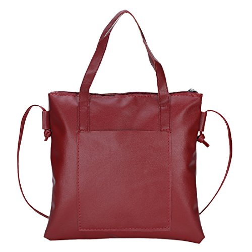 YYW shoulder bag - Bolso mochila  para mujer granate
