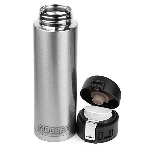 Mogbea (TM)16 OZ. stainless steel coffee mug (Stainless) Superior Double-Wall Vacuum Insulation Technology Delivers Better Performance than Foam