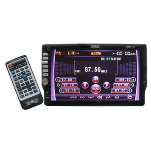 Absolute DMR710 Single DIN In-Dash 7-Inch TFT-LCD Touch screen Monitor with DVD, MP3, CD Receiver, USB and AUX Input (Rio Volt Mp3 Cd Player)