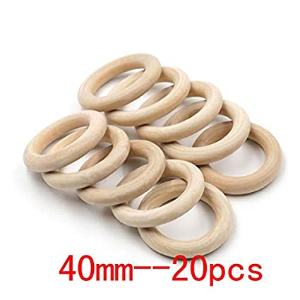 Amazon Com Size Fine Quality Natural Wood Teething Beads