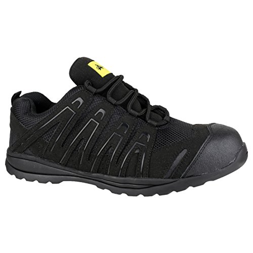 Amblers - Zapatillas de trabajo/Seguridad laboral unisex modelo FS40C (45 EU/Negro)
