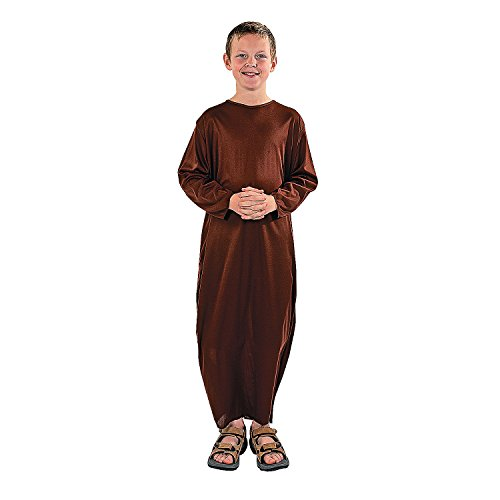 Fun Express - Child's L/XL Brown Nativity Gown for Christmas - Apparel Accessories - Costumes - Kids - Unisex Costumes - Christmas - 1 ()