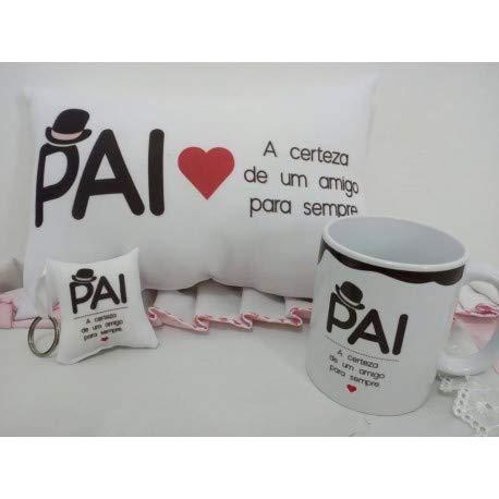 Kit Presente Do Papai (3 Em 1: Caneca, Travesseiro, Chaveiro)