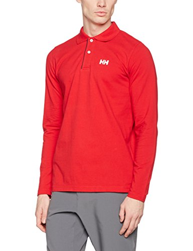 Helly Hansen Crew Hu Classic Ls Polo Shirt, Red, X-Large by Helly Hansen