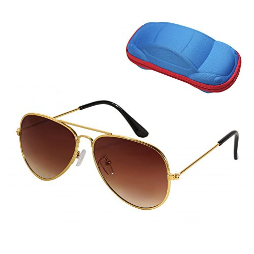 WODISON UV Protection Kids Aviator Sunglasses with Case Children - Recommended For Sunglasses Protection Uv