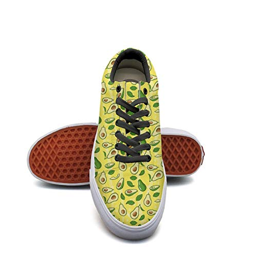 Sernfinjdr Casual lace-up Canvas Shoes for Men Yellow Avocado Trendy Golf Sneaker Shoes