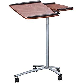 Amazon Com Techni Mobili Rolling Laptop Stand Mahogany