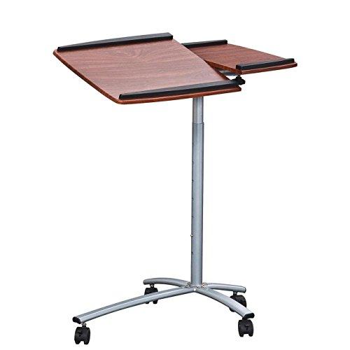 Mahogany Computer Cart - Techni Mobili Rolling Laptop Stand, Mahogany
