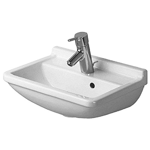 (Duravit 0750450000 Starck 3 Single-Hole Handrinse Basin, White Finish)
