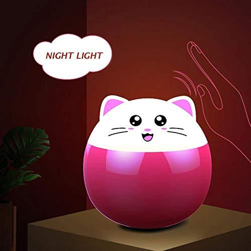 Luz de Noche para beb/é con Sensor t/áctil Colorida luz Nocturna para ni/ños Pawaca port/átil y Recargable luz Nocturna Brillante Que Cambia de Color para ni/ños