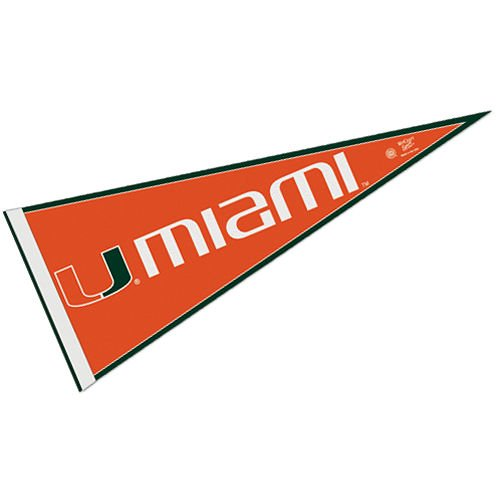 WinCraft NCAA University of Miami (Florida) WCR63918471 Carded Classic Pennant, 12