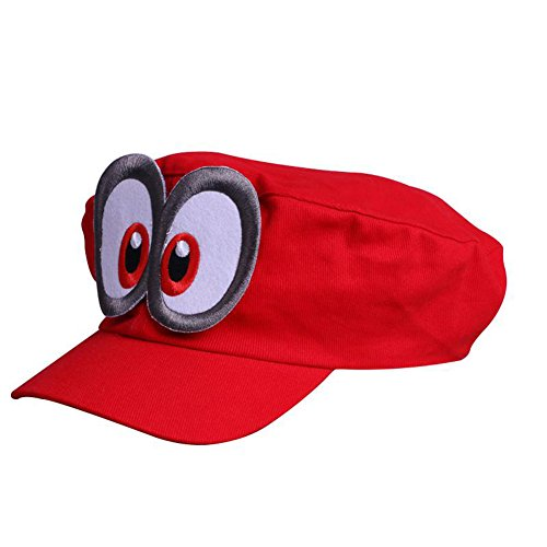 Cute Odyssey Cosplay Red Cappy Hat for Adults Baseball Caps -