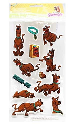 Scooby-Doo! Raised Glittery Sticker Sheet (12 Stickers)