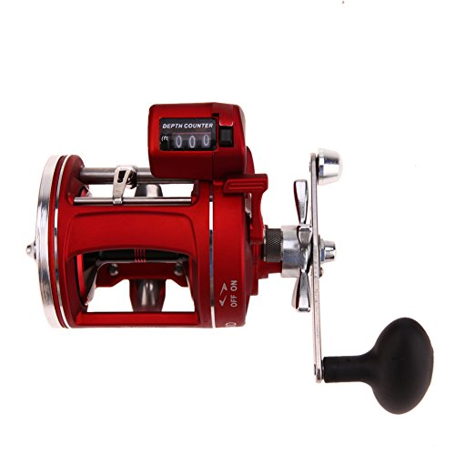 Alloet 11+1BB Fishing Wheel Reel Spool Tackle Tool Fishing Line Counter Trolling Reels Right Handle ACL Bait Wheel
