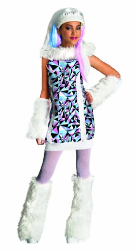 [Monster High Abbey Bominable Costume - Large] (Horror Costumes For Kids)