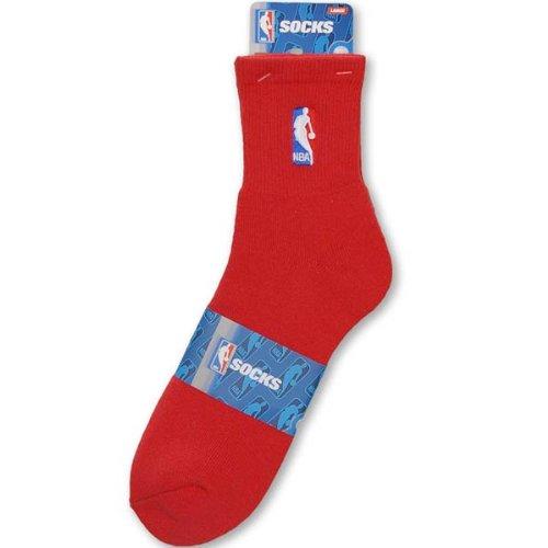 Socks Nba Feet For Quarter Bare - NBA Logoman Quarter Length Sock - Red - Red Large