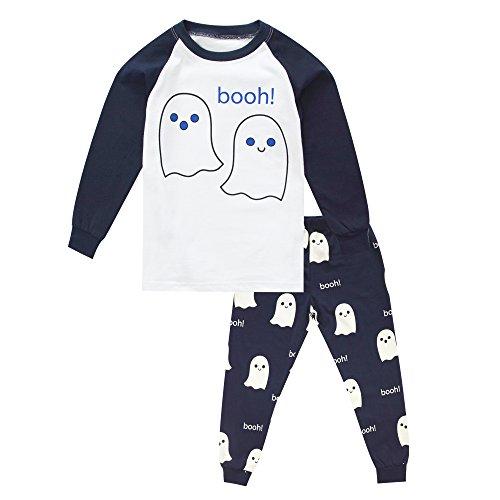 KISBINI Toddler Boys Pajama Pj Set Pjs Jammies for Halloween Xmas Happy Booh -